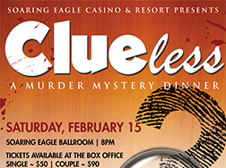 Image for MURDER MYSTERY DINNER - CLUELESS - Saturday, February 15, 2020