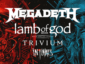 Image for MEGADETH and LAMB OF GOD wsg Trivium and In Flames - Thursday, July 2, 2020 (OUTDOORS)