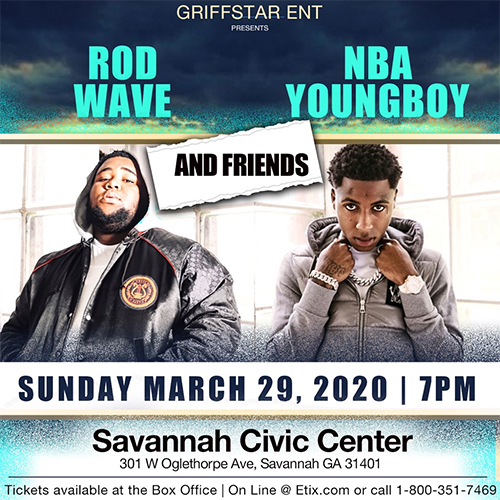 Image for NBA YOUNGBOY / ROD WAVE AND FRIENDS *Postponed from March 29th*